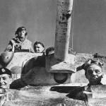 Smiling British Soldiers in M4 Sherman Tank 1943