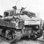 Tank Crew Atop M4 Sherman Tank named Atom Atlas near Cisterna 1944