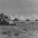 US 11th Armored Division Sherman Tanks during Maneuvers 1944