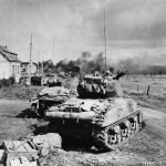 US 3rd Armored Division M4 Sherman Tanks in Action in Belgium 1944