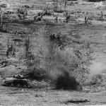 US 6th Marine Division M4 Sherman Tank Under Fire at Naha Okinawa