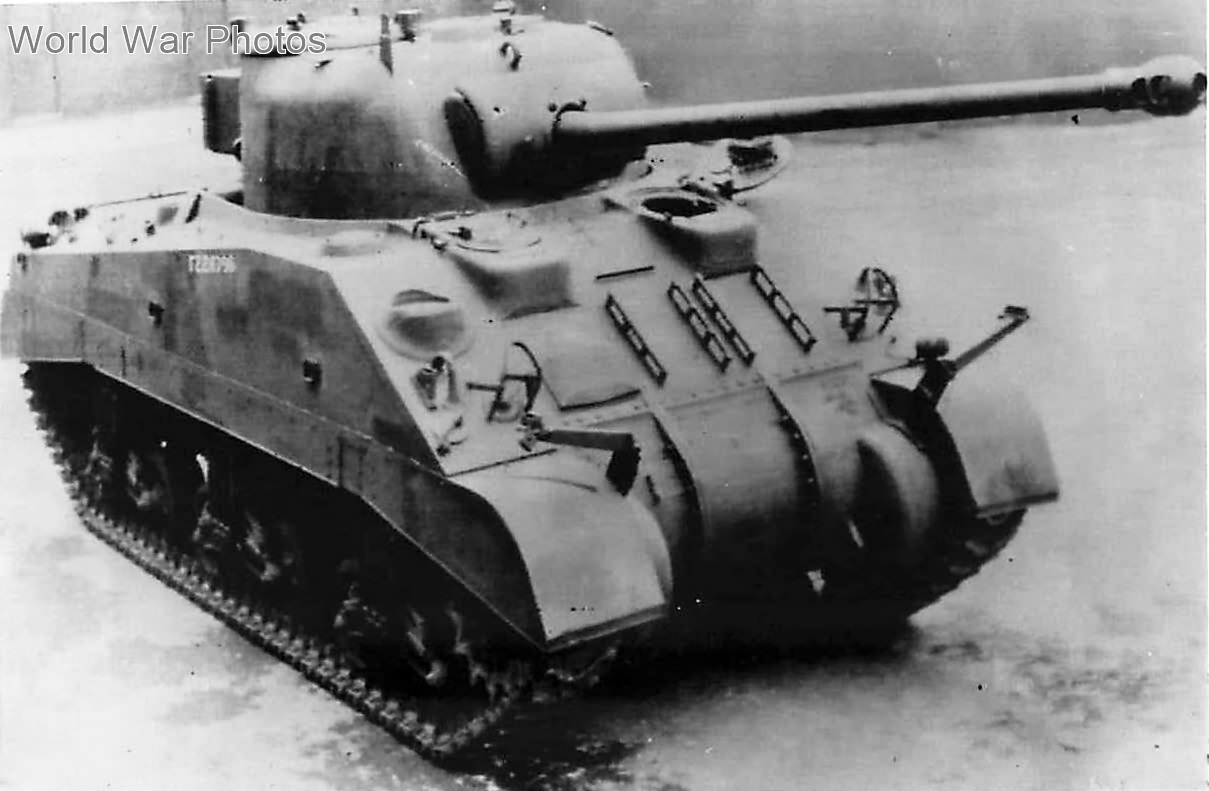 Sherman Firefly tank fitted with a 17 Pounder anti tank gun