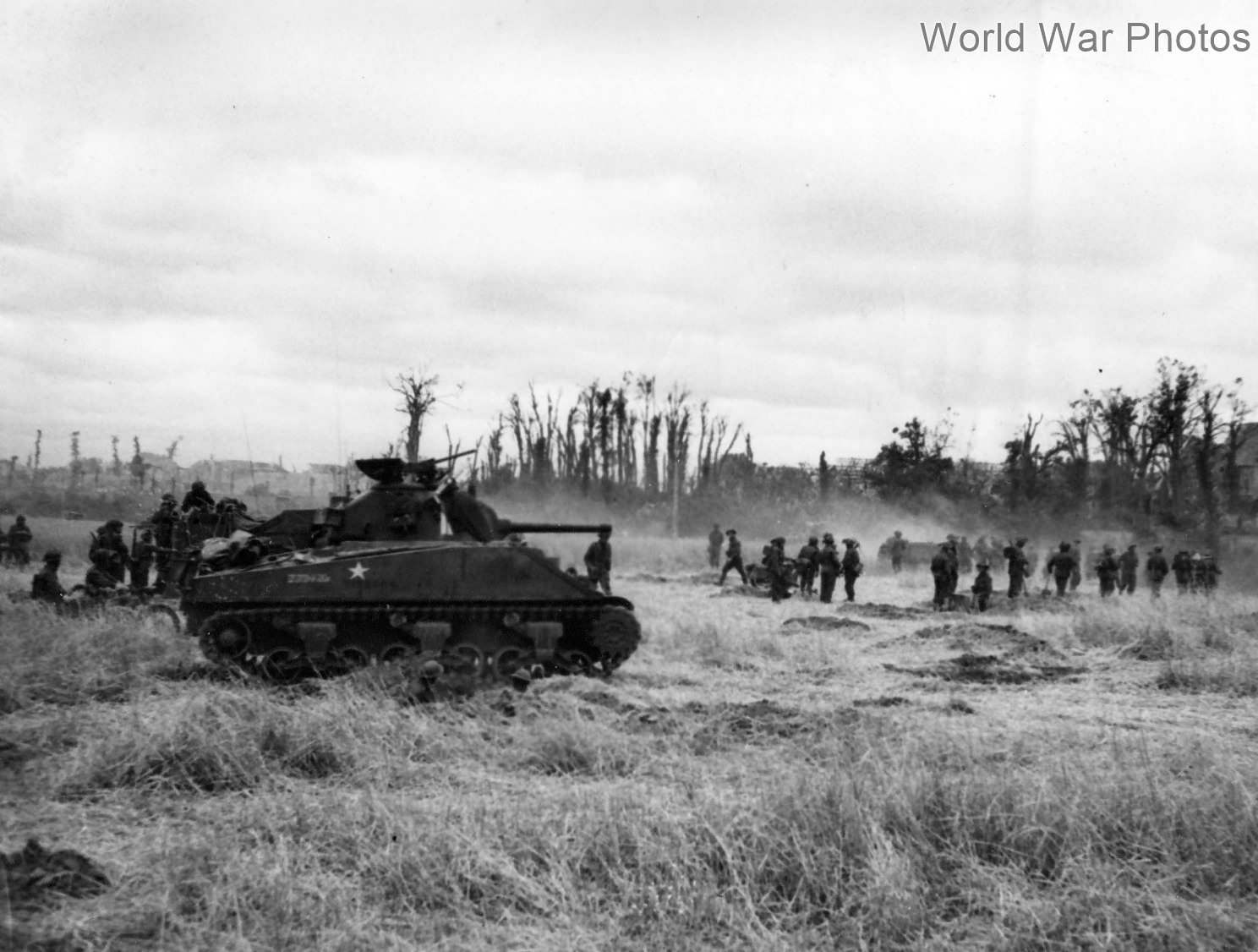 Sherman tank of British Army, Caen Normandy