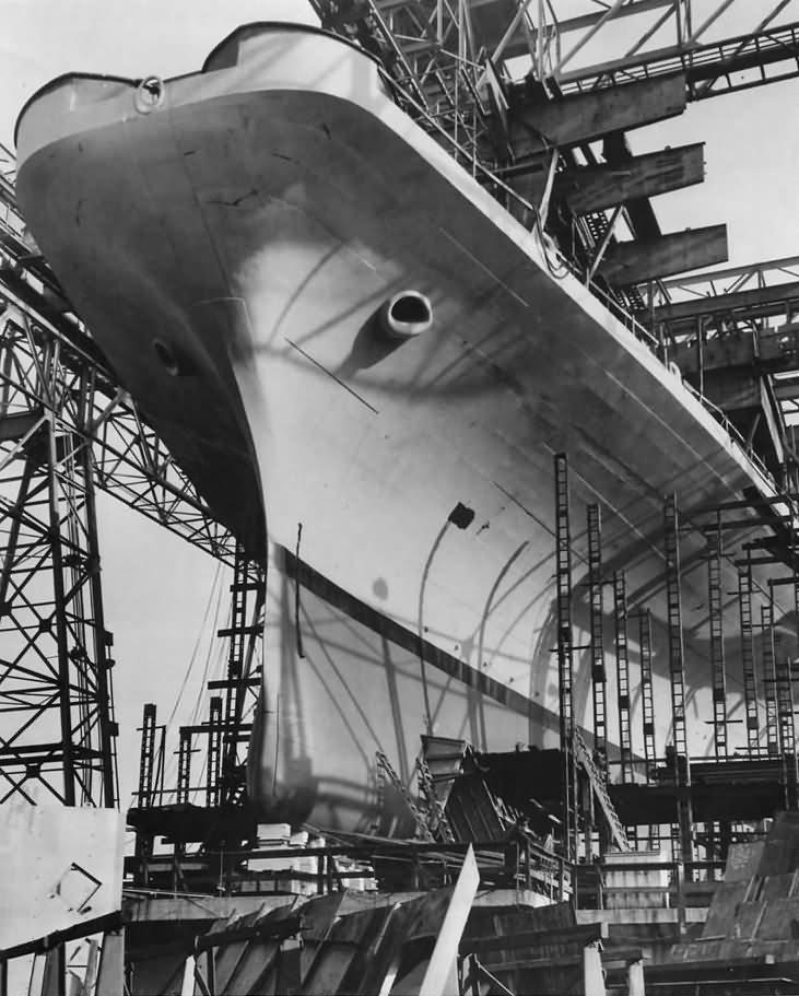 Aircraft Carrier USS Shangri-La CV-38 Ready for Launch February 1944