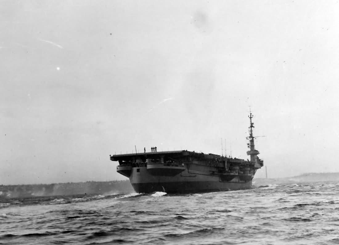 Carrier USS Cape Gloucester CVE-109 stern