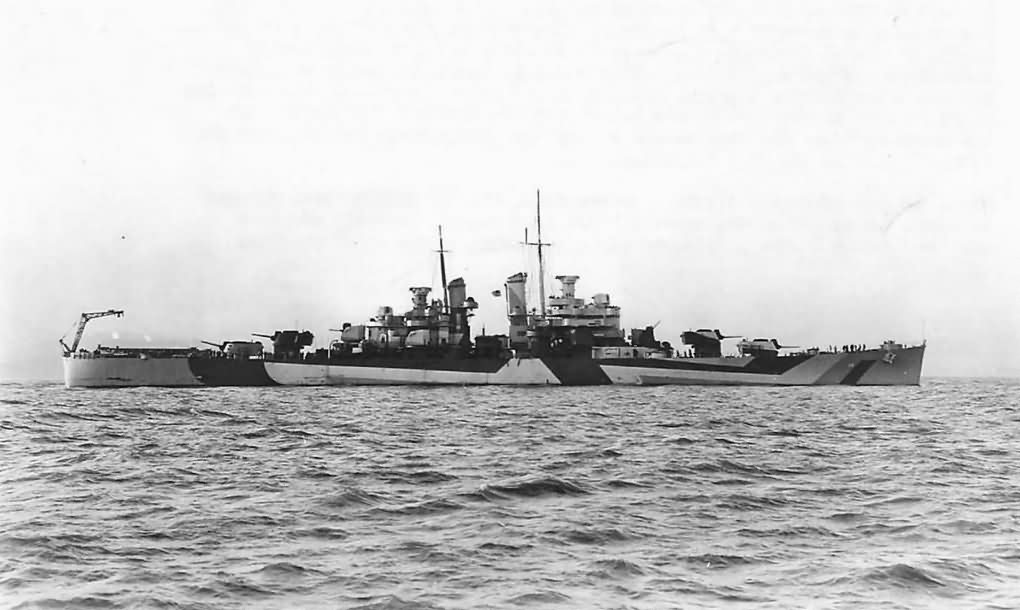 Cleveland Class Light Cruiser USS Denver CL-58 In