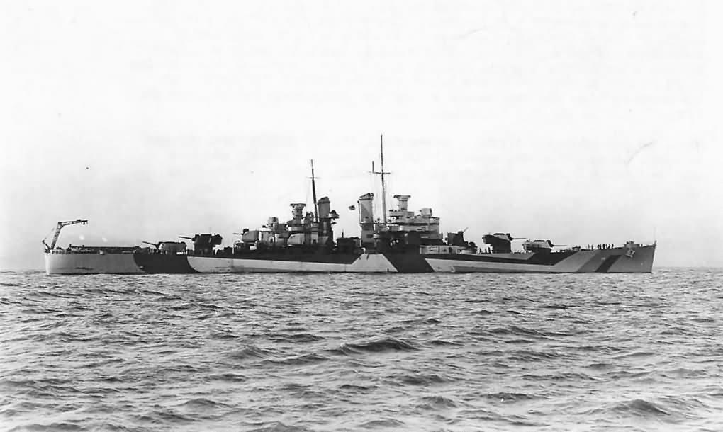 Cleveland Class Light Cruiser USS Denver CL-58 In