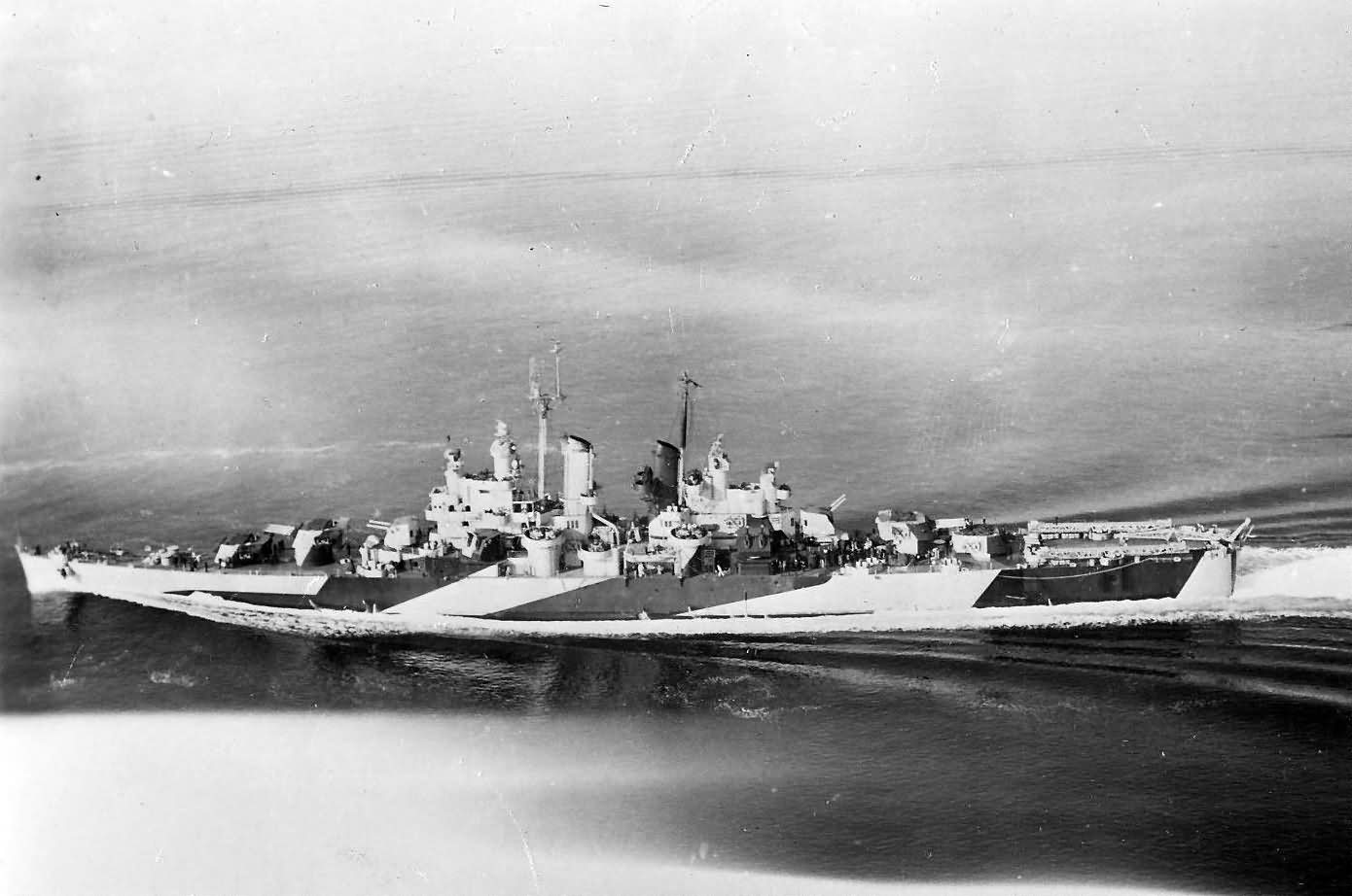 Cleveland class light cruiser USS Houston CL-81
