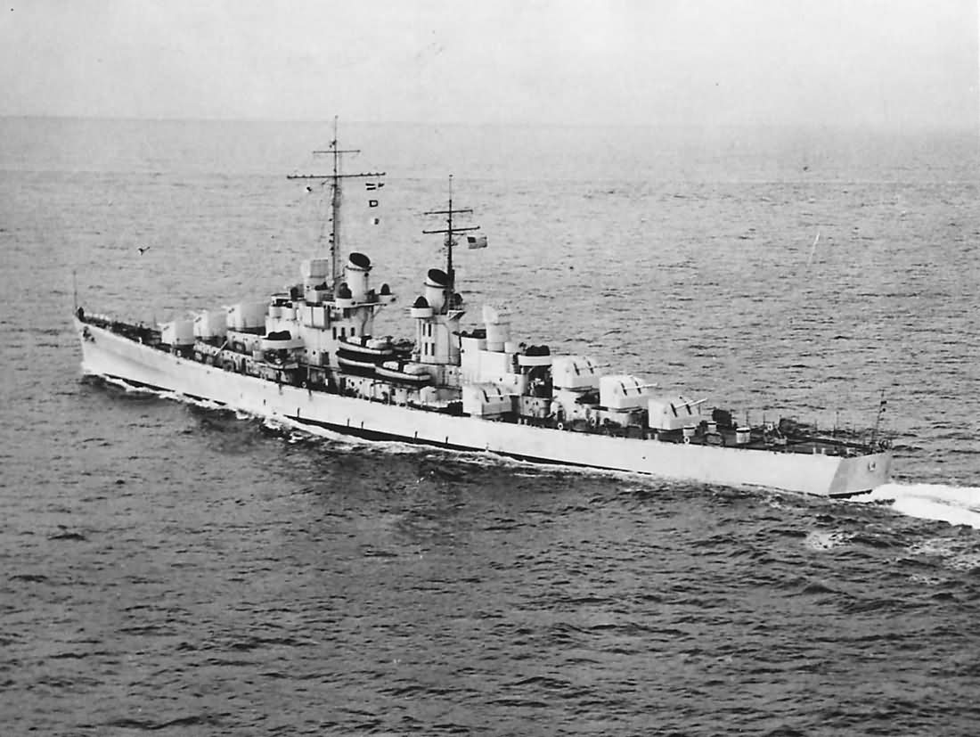 Cruiser USS Atlanta CL-51 during Trial Run off Atlantic Coast 1941