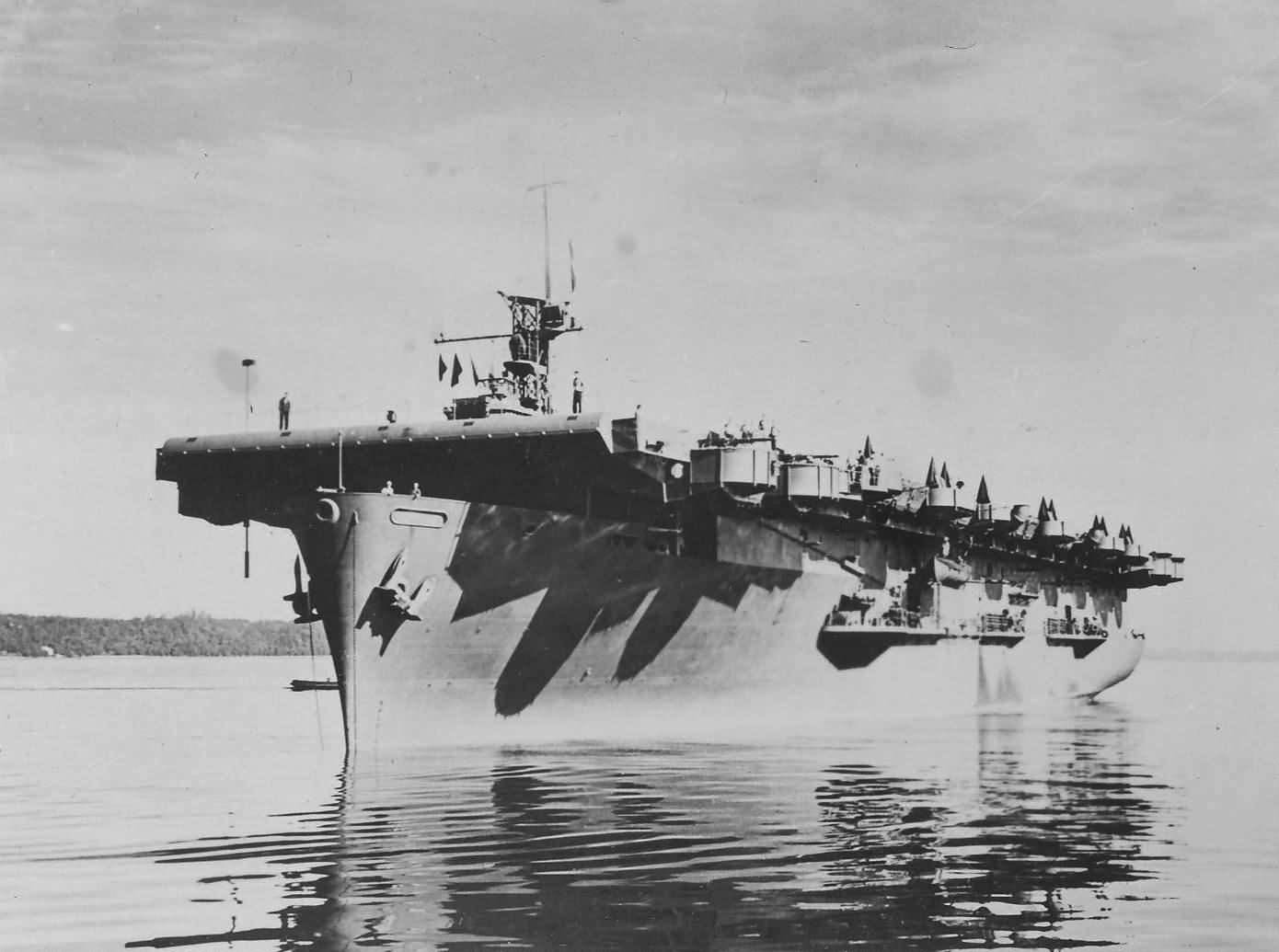 Escort aircraft carrier USS Casablanca CVE-55 planes on deck