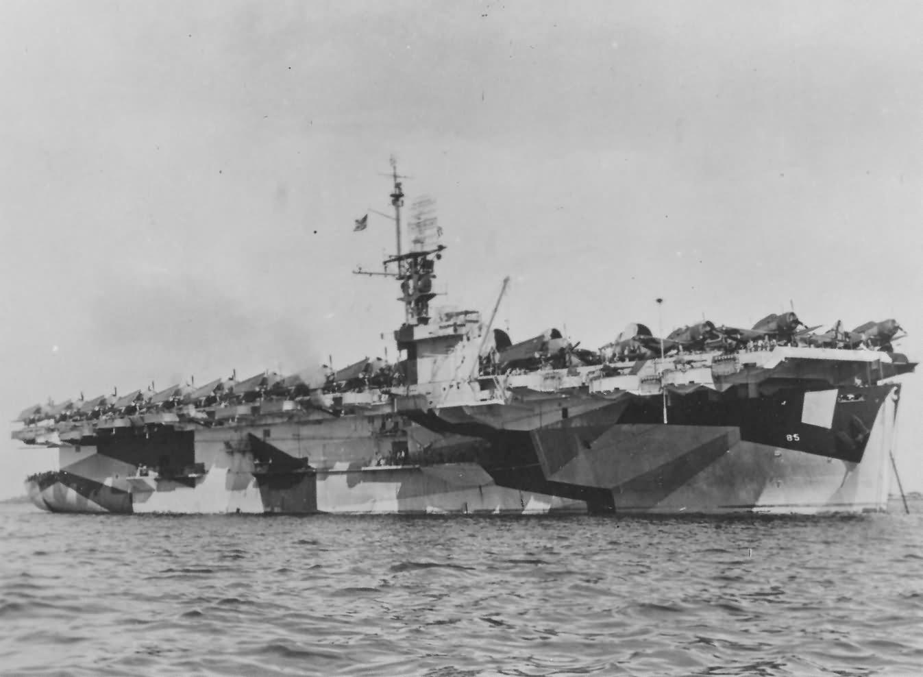 Escort carrier USS Shipley Bay CVE-85
