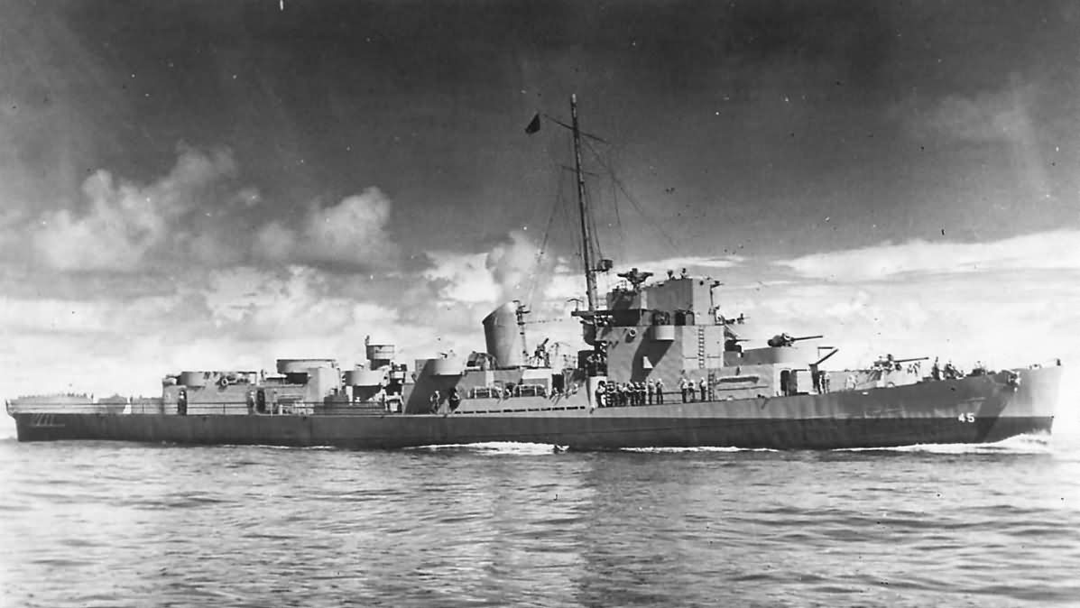 Evarts class destroyer escort USS Andres DE-45 1943
