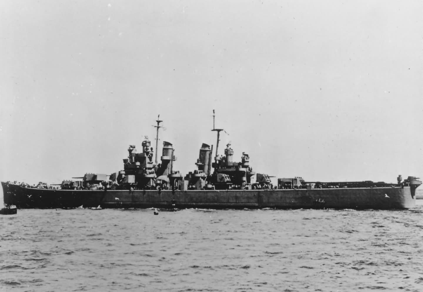 Heavy cruiser USS Boston CA-69