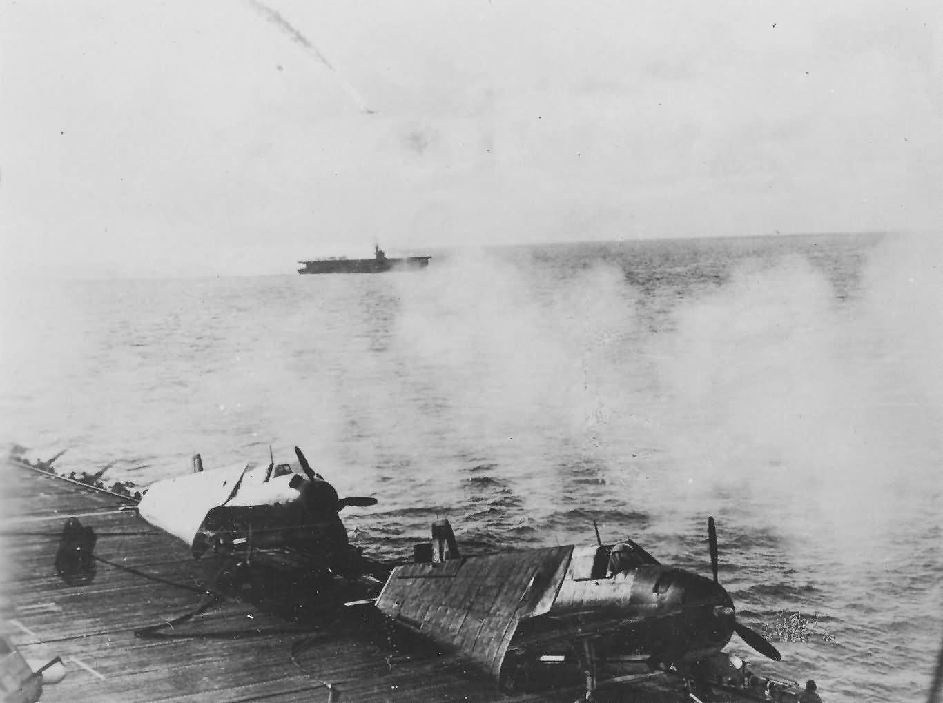 Japanese Kamikaze attempt on USS White Plains CVE-66