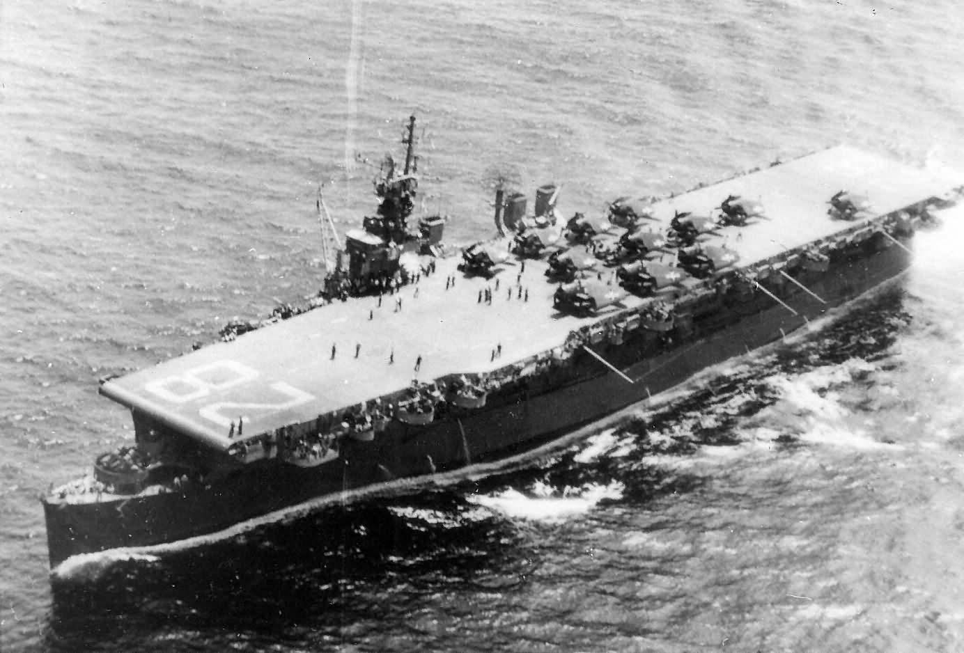 Light aircraft carrier USS Cabot CVL-28 1945