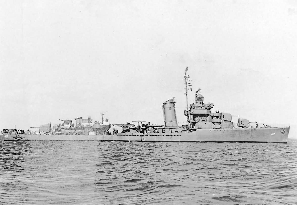 Sims class destroyer USS Morris DD-417