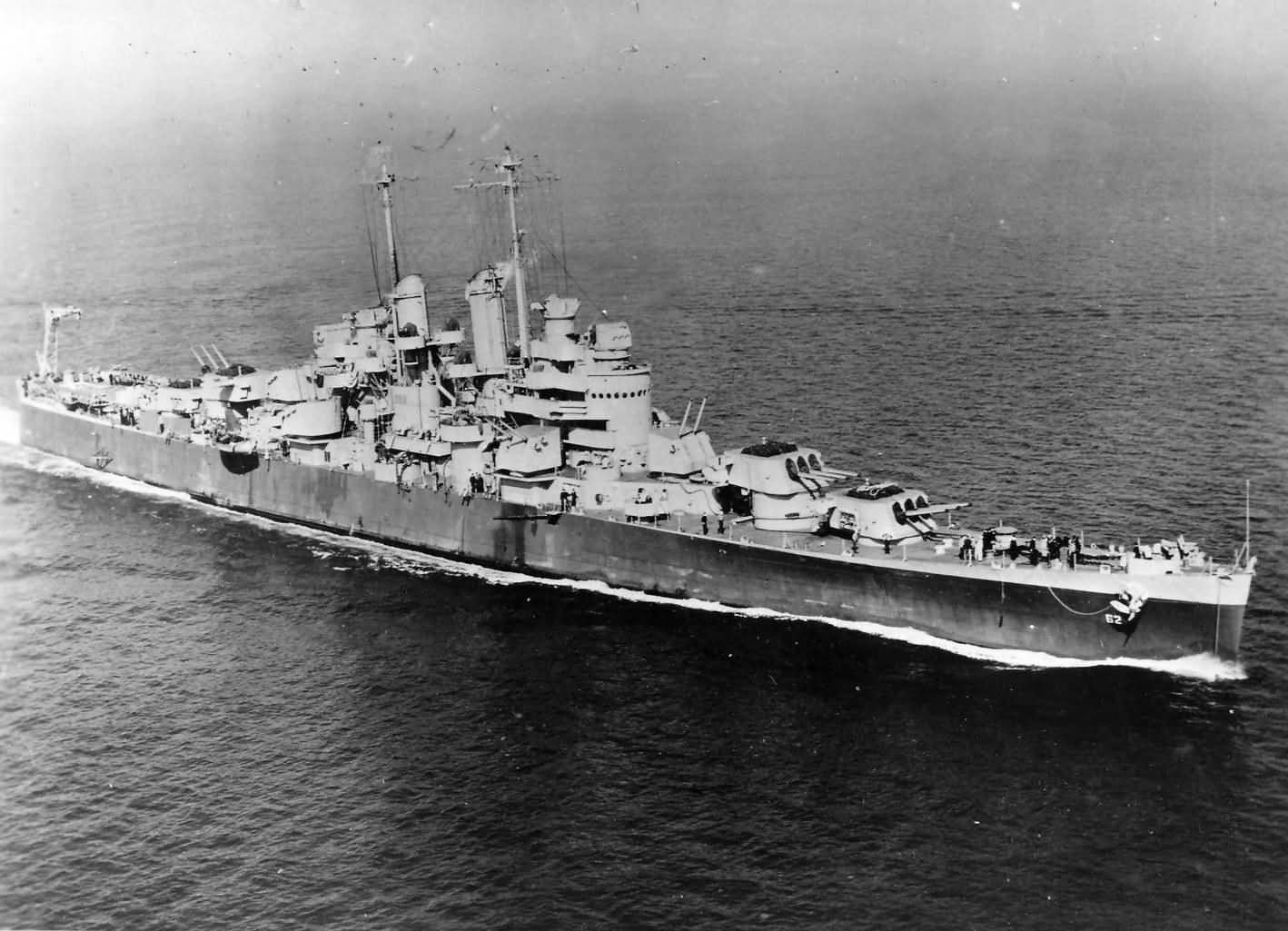 USS Birmingham CL-62 US Navy Light Cruiser