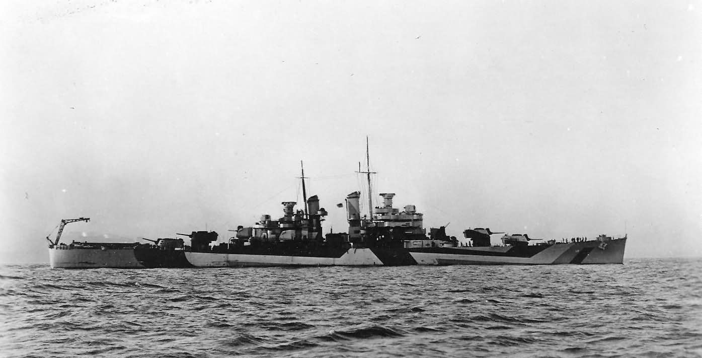 USS Denver CL-58 In Dazzle Camouflage Measure 33/3D