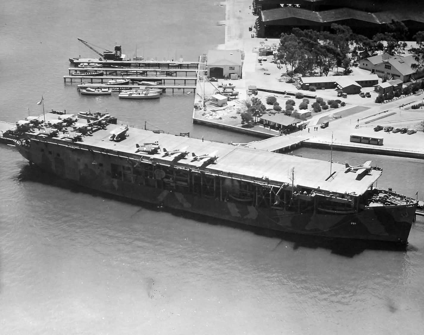 USS Long Island CVE-1 Aircraft Carrier