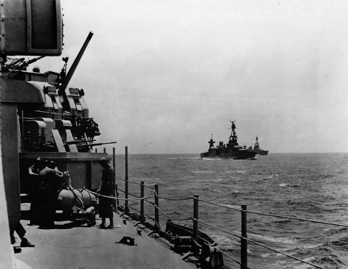 US Navy Task Force 18 Cruisers Headed to Guadalcanal USS Chicago January 1943