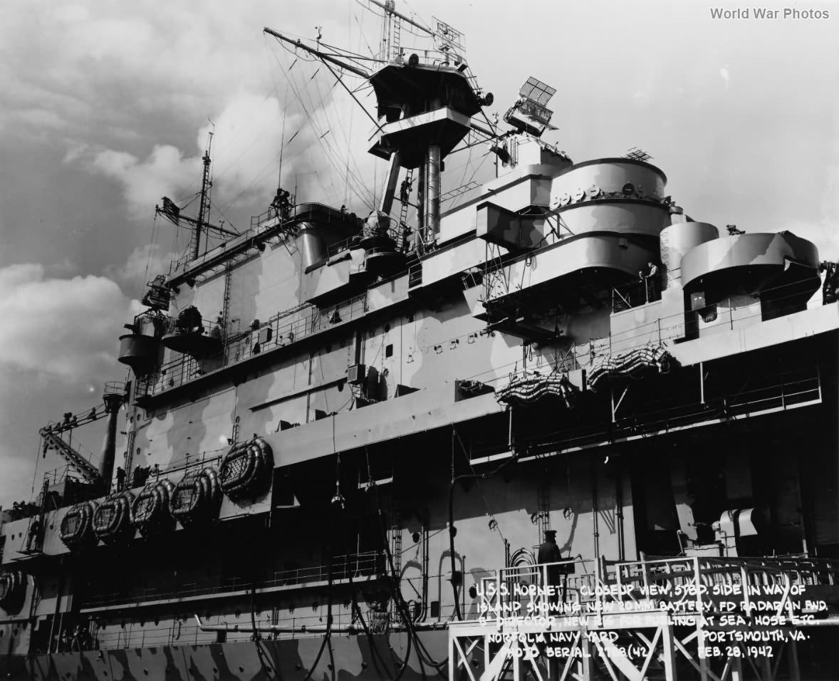 USS Hornet island 2