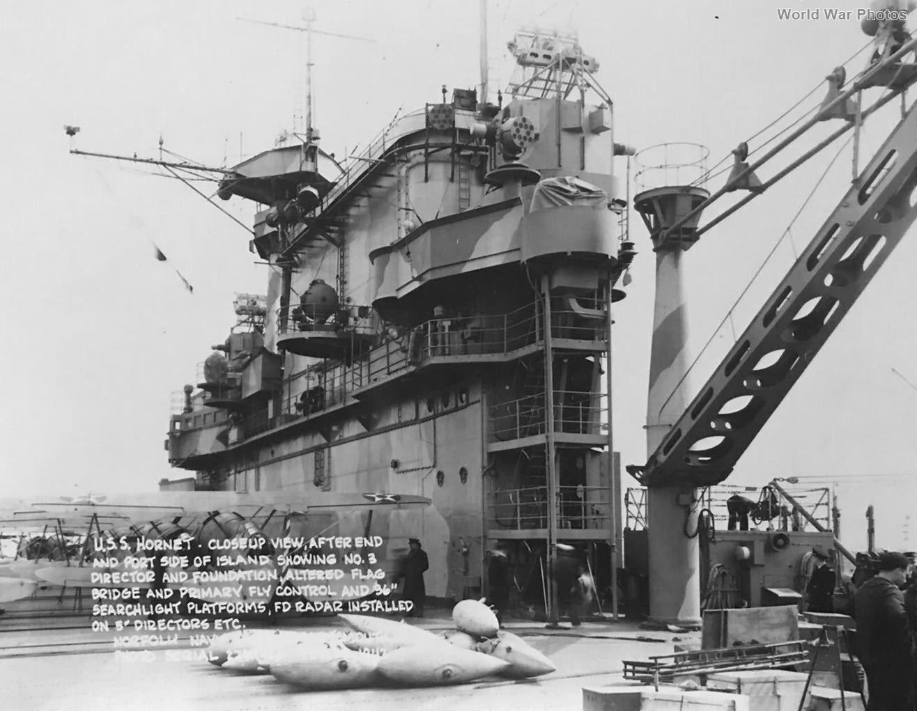 USS Hornet island 3