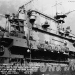 USS Hornet island
