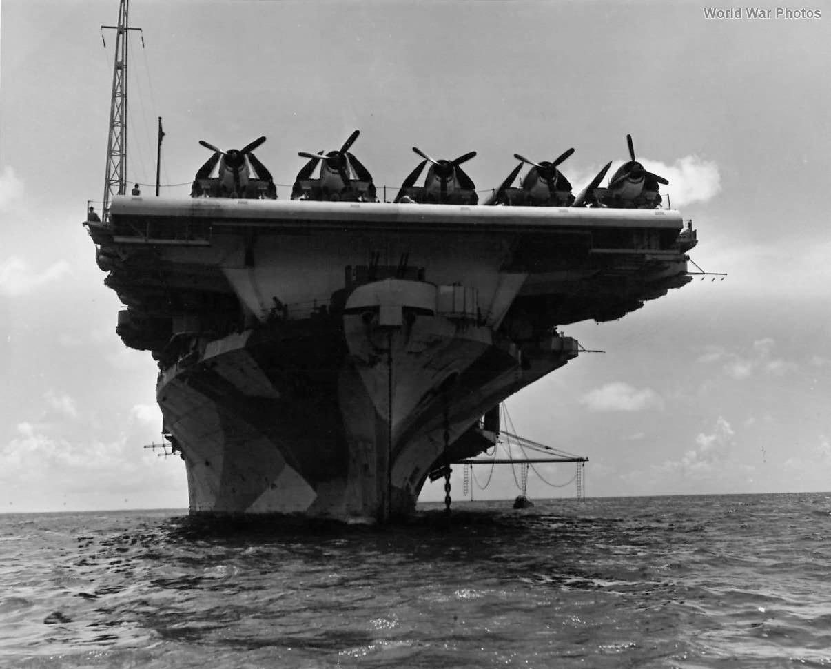 Hellcats on Flight Deck of Hornet 1944