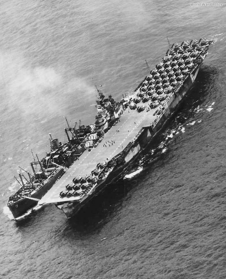 Servron 6 Ammo Ship Replenishing USS Hornet at sea