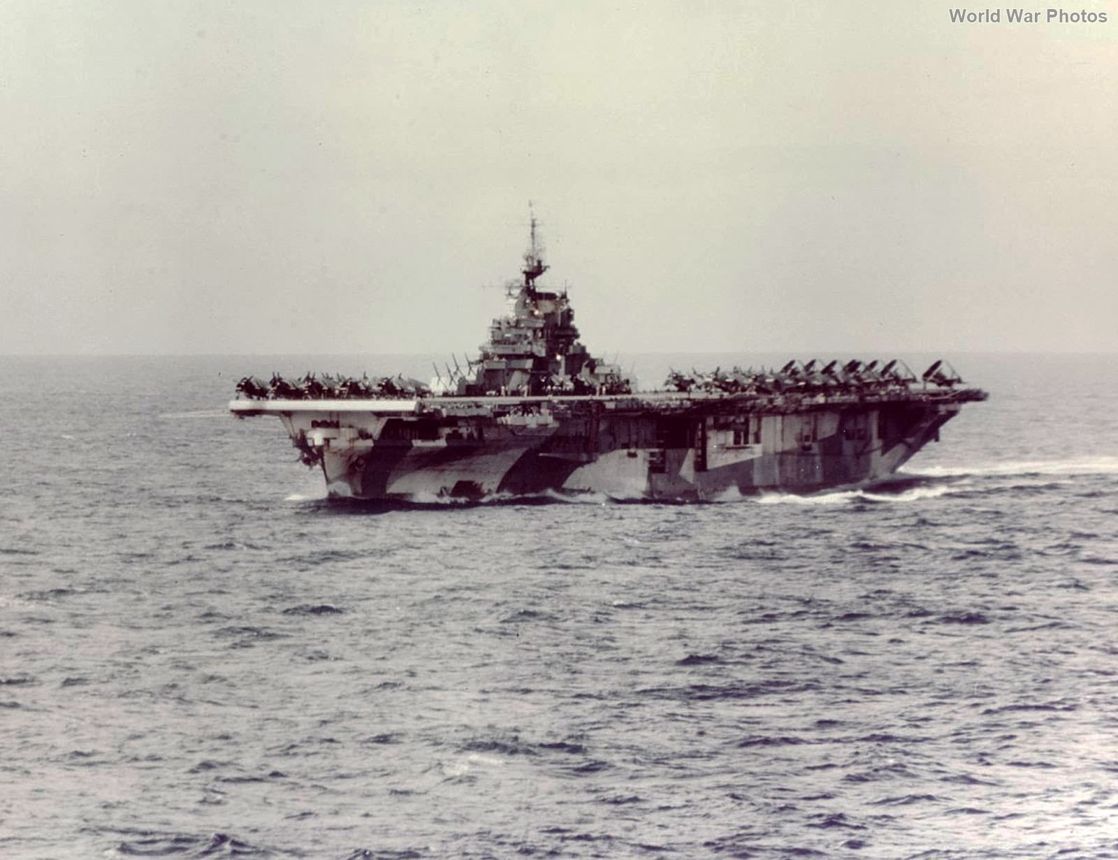 USS Hornet color photo