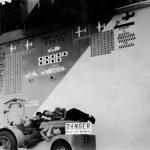 scoreboard on Hornet August 28 1944