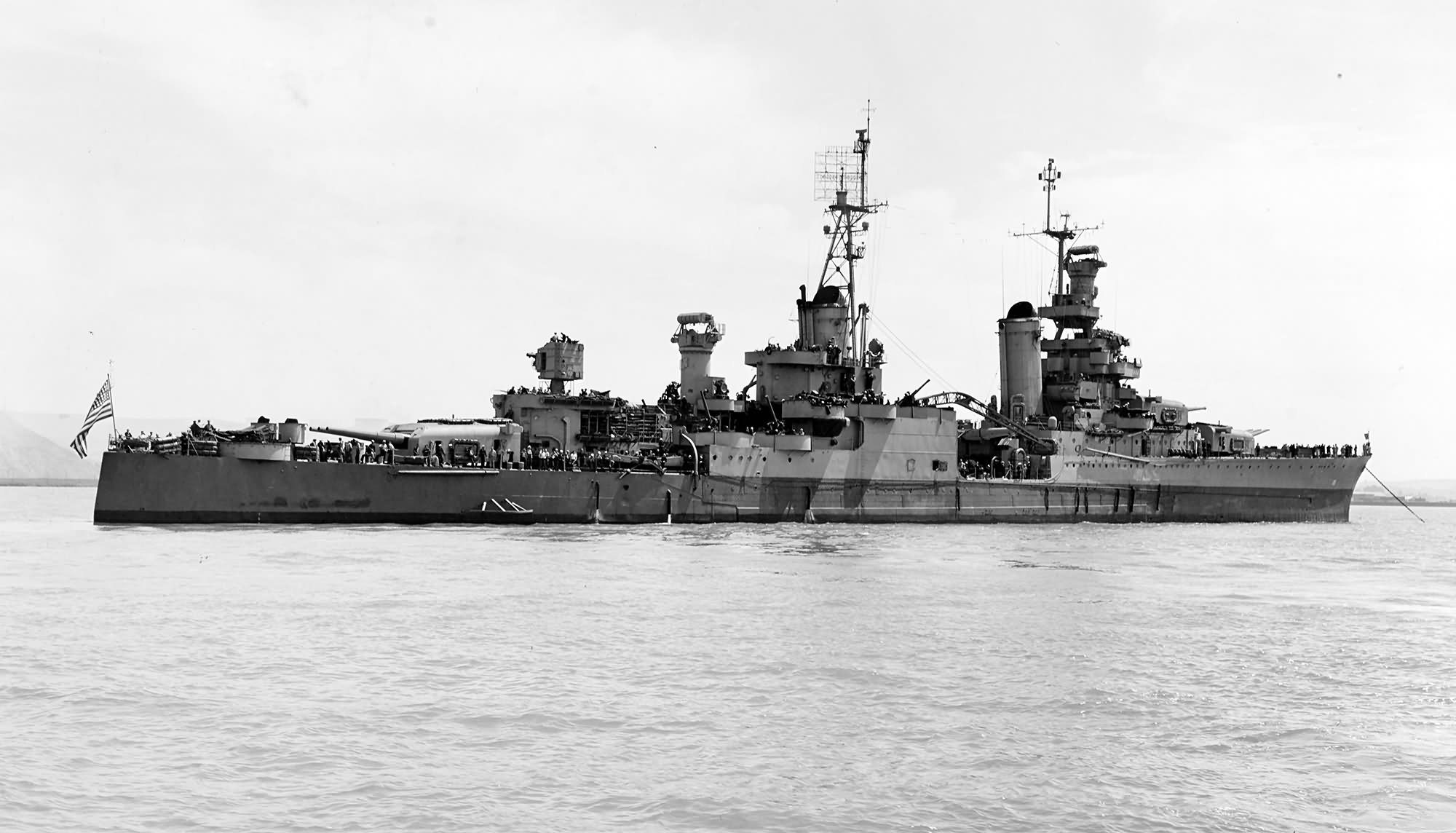 On the heavy cruiser USS Indianapolis, 1934