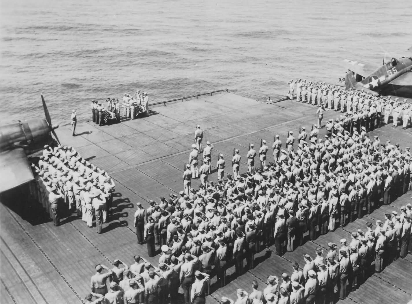last respect to shipmates USS Lexington CV-16 aircraft carrier