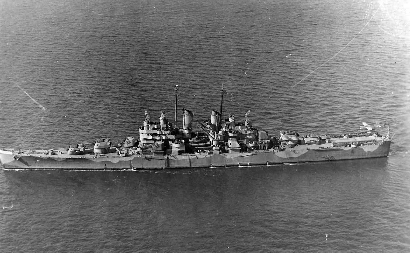 light cruiser USS Montpelier CL-57