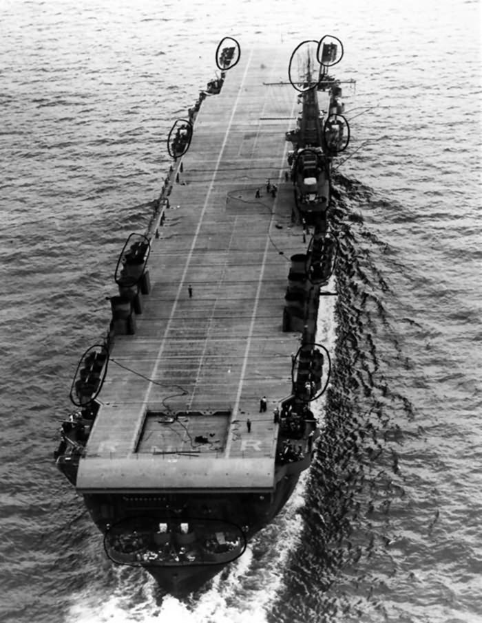 USS Ranger (CV-4) underway, Hampton Roads 18 August 1942