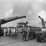Casualties of South Dakota buried at sea off Guam 1944