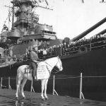 Emperor Hirohito famous white horse