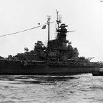 USS South Dakota entering the Golden Gate September 1945