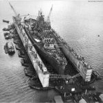 Battleship USS South Dakota Guam May 1945
