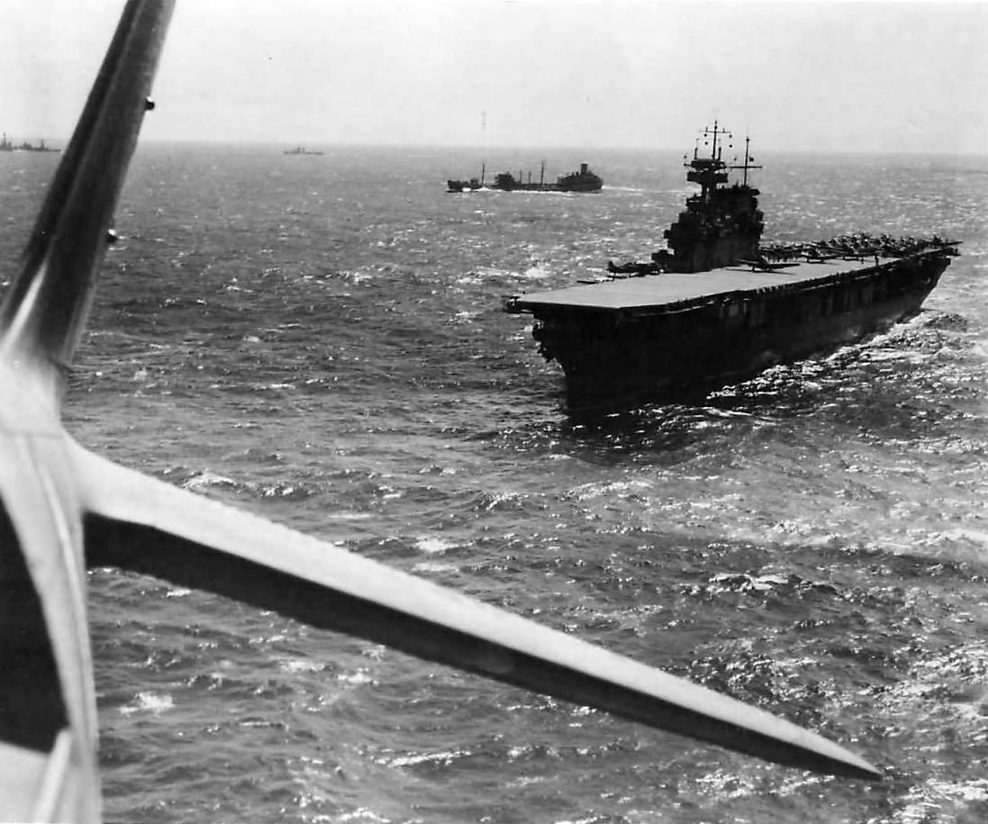 USS Yorktown and TF-17 operating in the Pacific before Coral Sea Battle
