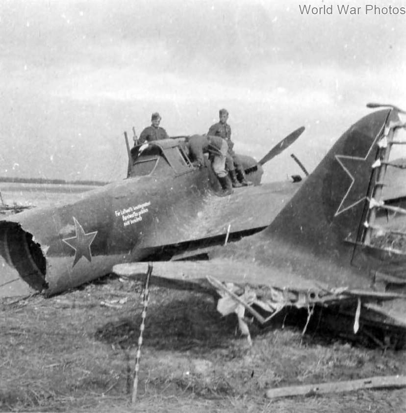 Destroyed Ilyushin IL-2
