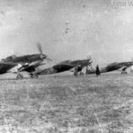 Il-2M white 20 and 21 taxiing at airfield