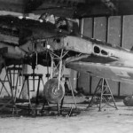 Wreckage of a IL-2 in hangar