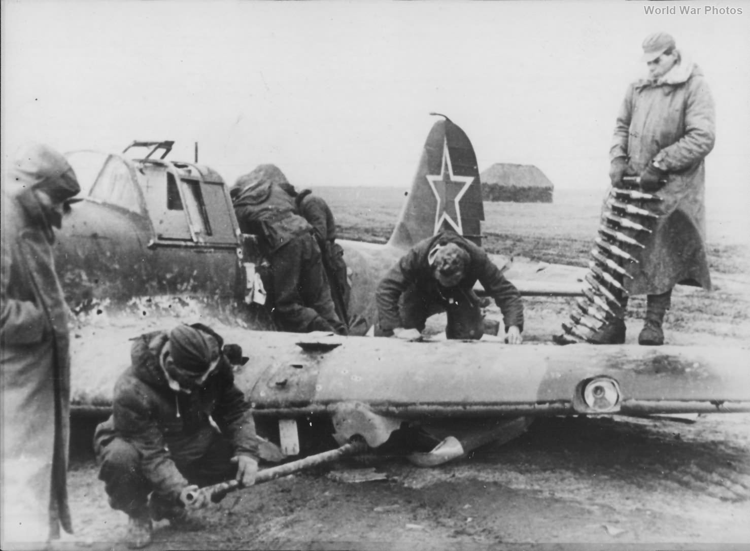 Wreckage of downed Il-2 1944