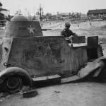 Destroyed armored car BA-20