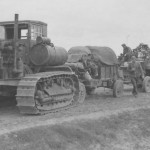 Russian Stalinetz S-60 tractor with cab