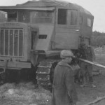 Russian Stalinetz S-65 tractor with cab