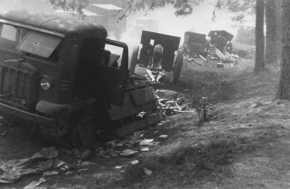 abandoned STZ-5 artillery tractor