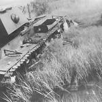 Abandoned heavy tank KV-1