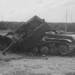Destroyed heavy tank KV-1